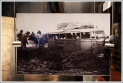 Old photo of an Aleman?Cafayate bus. Museo de la Vid y el Vino (Museum of Vine and Wine).