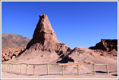 El Obelisco, a natural rock formation resembling an obelisk. Quebrada de las Conchas.