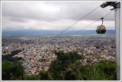 View of the city of Salta with the telef�rico above. Cerro San Bernardo.