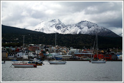 Ushuaia and its harbor, viewed from Aeroclub Ushuaia.