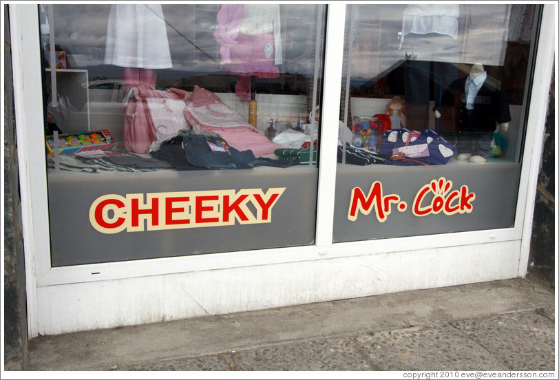 Store named Cheeky Mr. Cock, on Gobernador Paz.