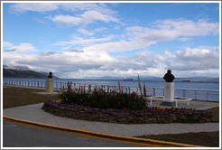 Flowers planted near the Bah�a de Ushuaia.