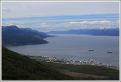View of Ushuaia from Glaciar Martial Sendero del Filo (Edge Path).