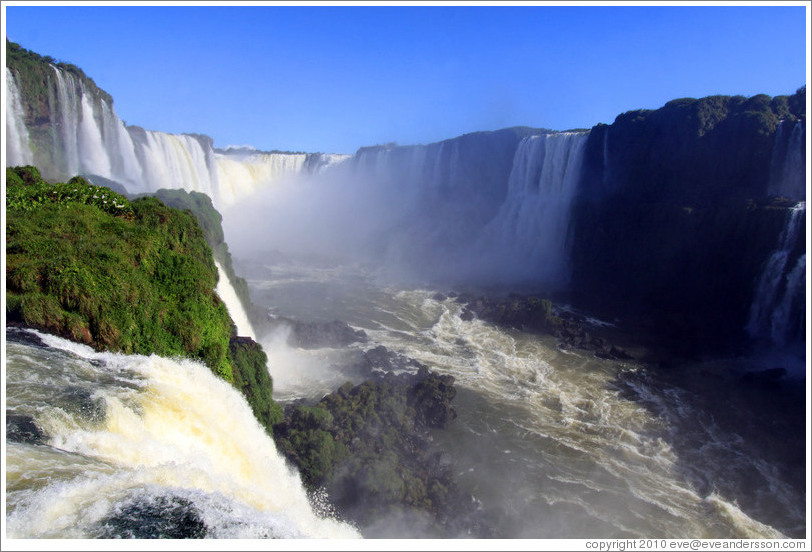 Iguassu Falls, seen from the Brazil side.
