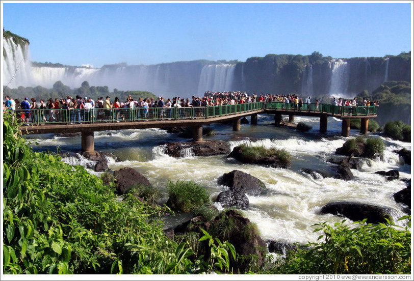 Crowded walkway, Iguassu Falls, Brazil side.