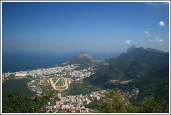 View of Rio de Janeiro from the top of Corcovado Mountain.