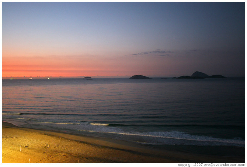 Ipanema Beach at sunrise.