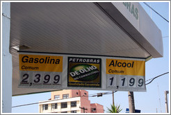 Many cars in Brazil can run on gasoline, alcohol, or any mixture of the two.