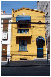 Yellow house.  Rua Artur de Azevedo.  Villa Magdalena neighborhood.