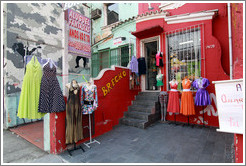 Retro clothing store Brech?ctor Hugo.  Rua Cardeal Arcoverde.  Villa Magdalena neighborhood.