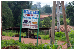 Restaurant Prestige sign.