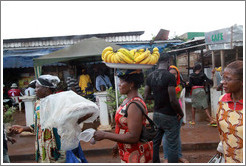 Banana vendors on Route N5.