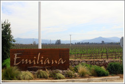 Sign.  Emiliana Vineyards.