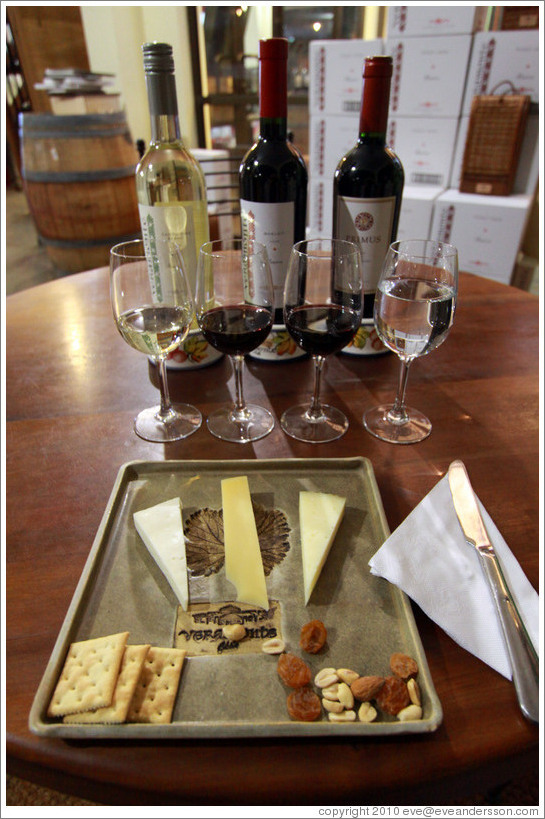 Wine and cheese tasting, Veramonte Winery.