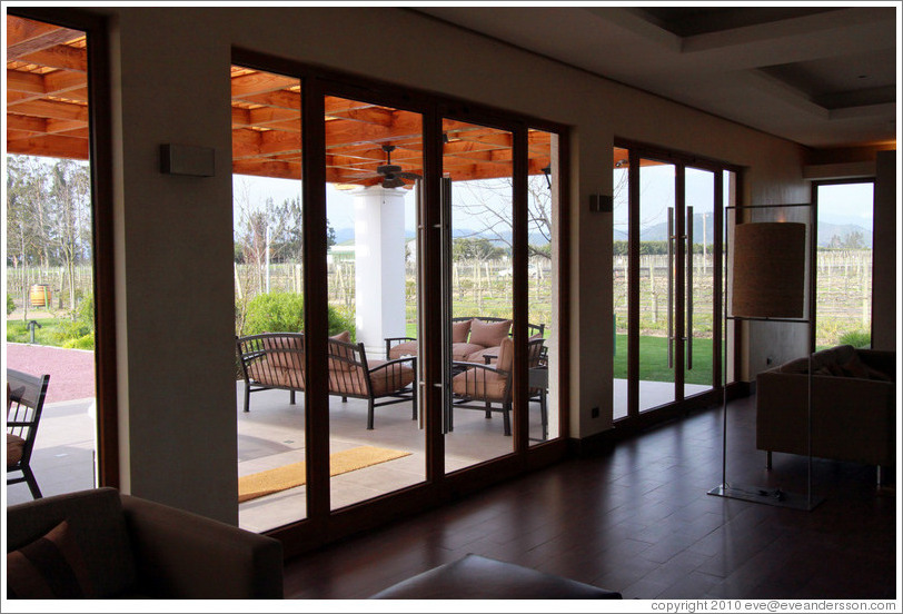 View to patio, Casas del Bosque.