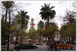 Plaza de Armas, Santiago's central square.