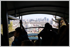 View of Santiago from the funicular, Cerro San Crist?.