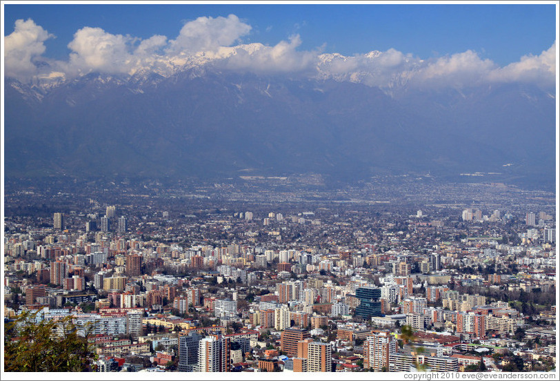 View of Santiago from Cerro San Crist?.