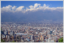 View of Santiago from Cerro San Crist�bal.