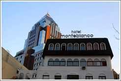 hotel Monteblanco and a modern building, Isidora Goyenechea, Providencia neighborhood.