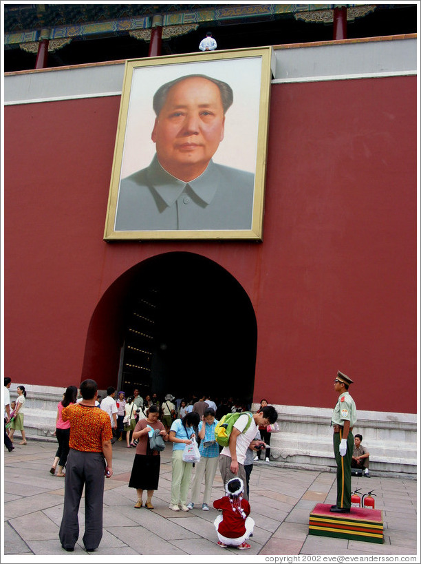 Mao Zedong at entrance to Forbidden City.