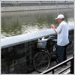Fisherman on Jingshan Qianjie.