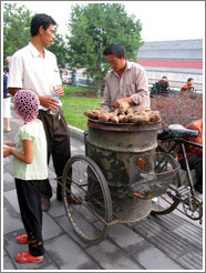 Potato seller on Jingshan Qianjie.