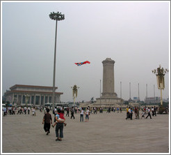 Kite flyer in Tiananmen Square.