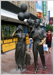 Statue celebrating commercialism.  Najing Ave.