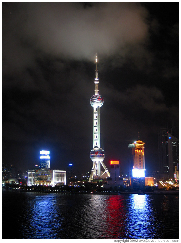 Oriental Pearl TV tower.