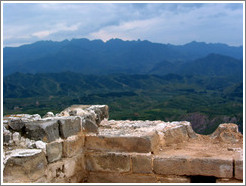 View from Great Wall of China.