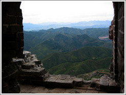 View from guard tower in Great Wall of China.