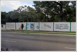 Words by Che Guevara and José Martí painted on a wall on Avenida de la Independencia.