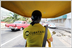 The experience from within a Coco taxi.