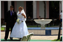 Bride and groom, Hotel Nacional de Cuba.
