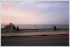 The Malecón at dusk.