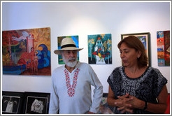 Cuban artists Juan Moreira and Alicia Leal in their studio.