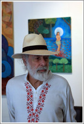 Cuban artist Juan Moreira in the studio he shares with Alicia Leal.