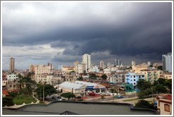 Havana on a stormy afternoon, viewed from Hotel Meliá Cohiba.