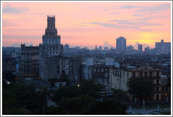 View of Havana from Hotel Saratoga at dusk.