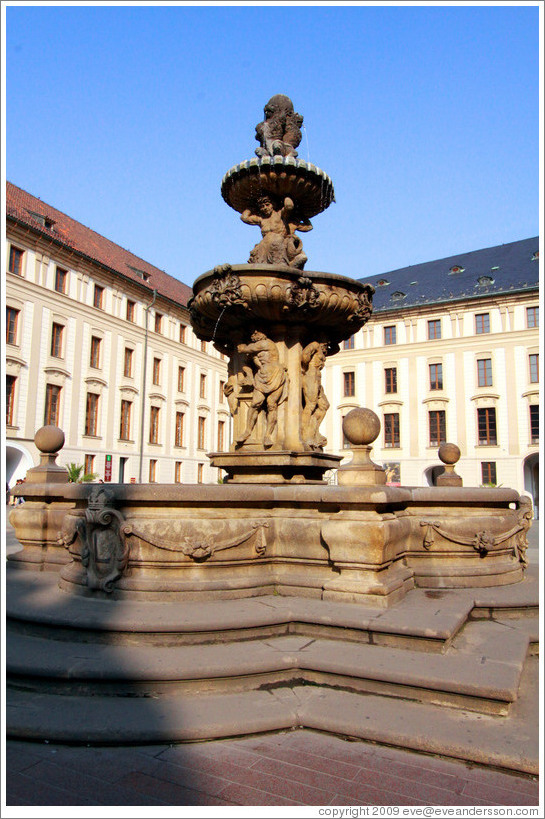 Fountain, 2nd Courtyard, Prague Castle.