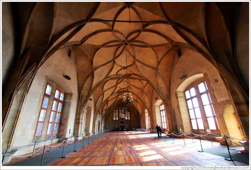 Vladislav's Hall, Old Royal Palace, Prague Castle.