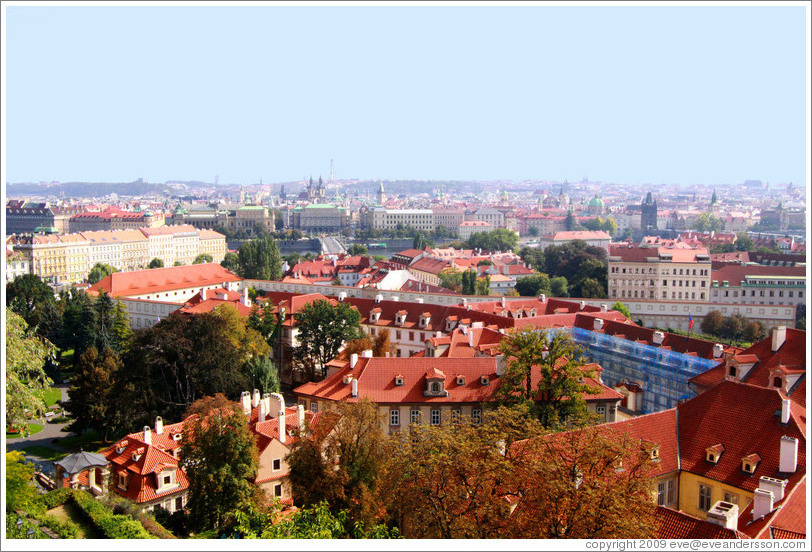 View of Prague from Prague Castle.