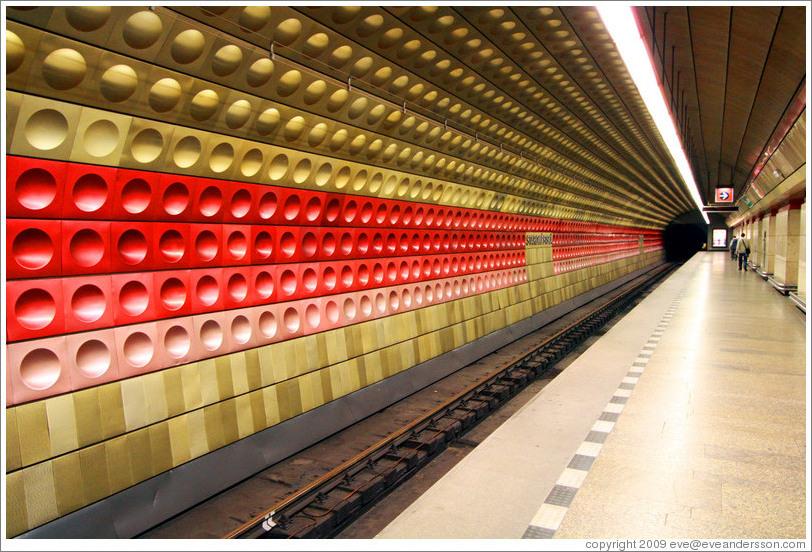 station, Prague Metro.