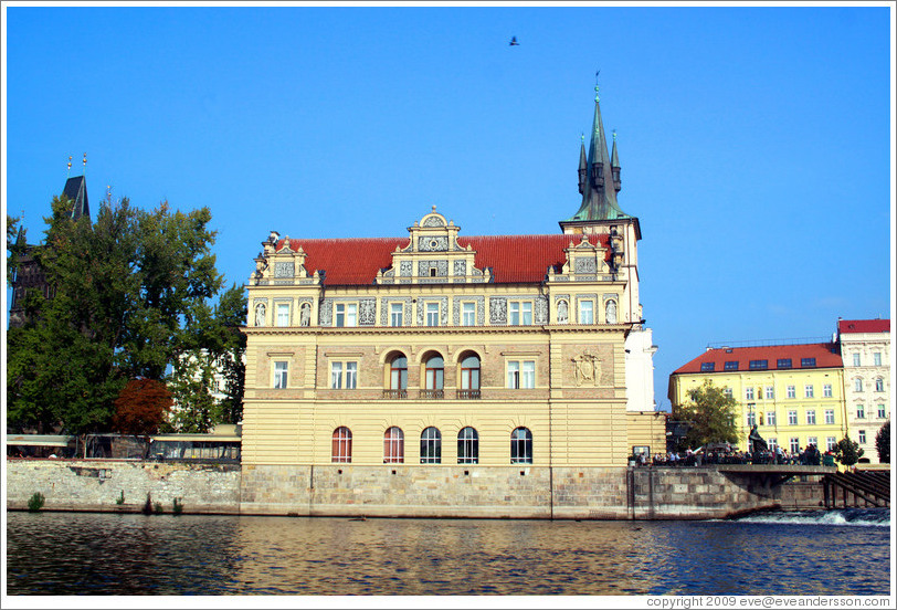 Bedrich Smetana Museum (Muzeum Bedřicha Smetany), viewed from a boat on the Vltava River.