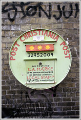 Christiana Post.  Letters require local postage and, if going outside Christiania, Danish postage as well.