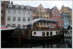 Christianshavns canal, with houseboat.