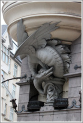 Dragon-like building detail.  Bredgade, Frederiksstaden district, city centre.