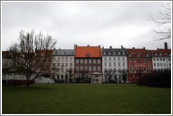 Kongens Have (King's Gardens), surrounded by stately buildings.  City centre.