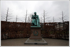 Statue of Hans Christian Andersen.  Kongens Have (King's Gardens).